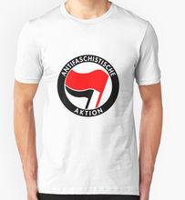 Casual Fitness T Shirts  Short Sleeve S Antifaschistische Aktion Antifa Afa Germany Dutch Print Crew Neck Tee For Men
