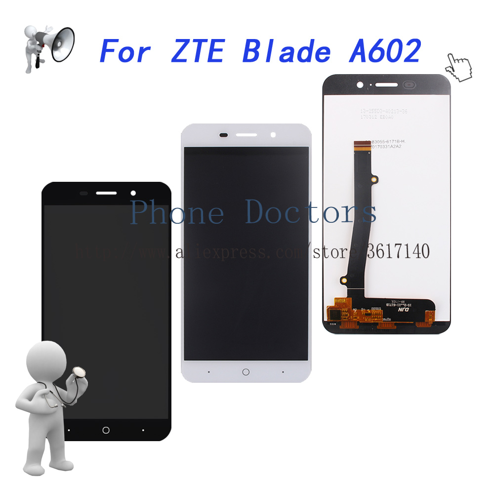 100% Tested 5.5'' Full <font><b>LCD</b></font> <font><b>DIsplay</b></font> + Touch Screen Digitizer Assembly For <font><b>ZTE</b></font> <font><b>Blade</b></font> <font><b>A602</b></font> <font><b>LCD</b></font> Replace image