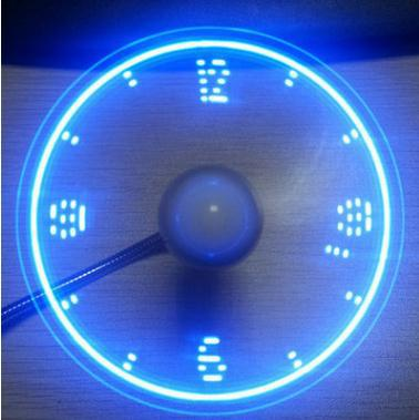 USB fan portable gadget flexible gooseneck LED clock fan for laptop notebook real-time display durable lucog mini usb fan with led flashing light gooseneck cool time clock display usb flexible cooling fan for pc laptop notebook