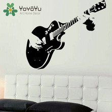 LARGE GUITAR WALL ART DECAL MURAL STICKER STENCIL VINYL CUT TRANSFER LIVING ROOM HOME DECOR NY-53