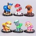 Nuevo 6 unids Patrulla Patrulla Canina Cachorro Perro Muñecas Juguetes Figuras de Acción Anime Juguetes Brinquedos Niños Juguetes Para Niños Regalos WJ440