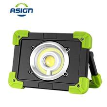 Портативный COB прожектор USB Перезаряжаемый светодиодный рабочий свет супер яркий портативный фонарик водонепроницаемый для кемпинга освещение на охоте