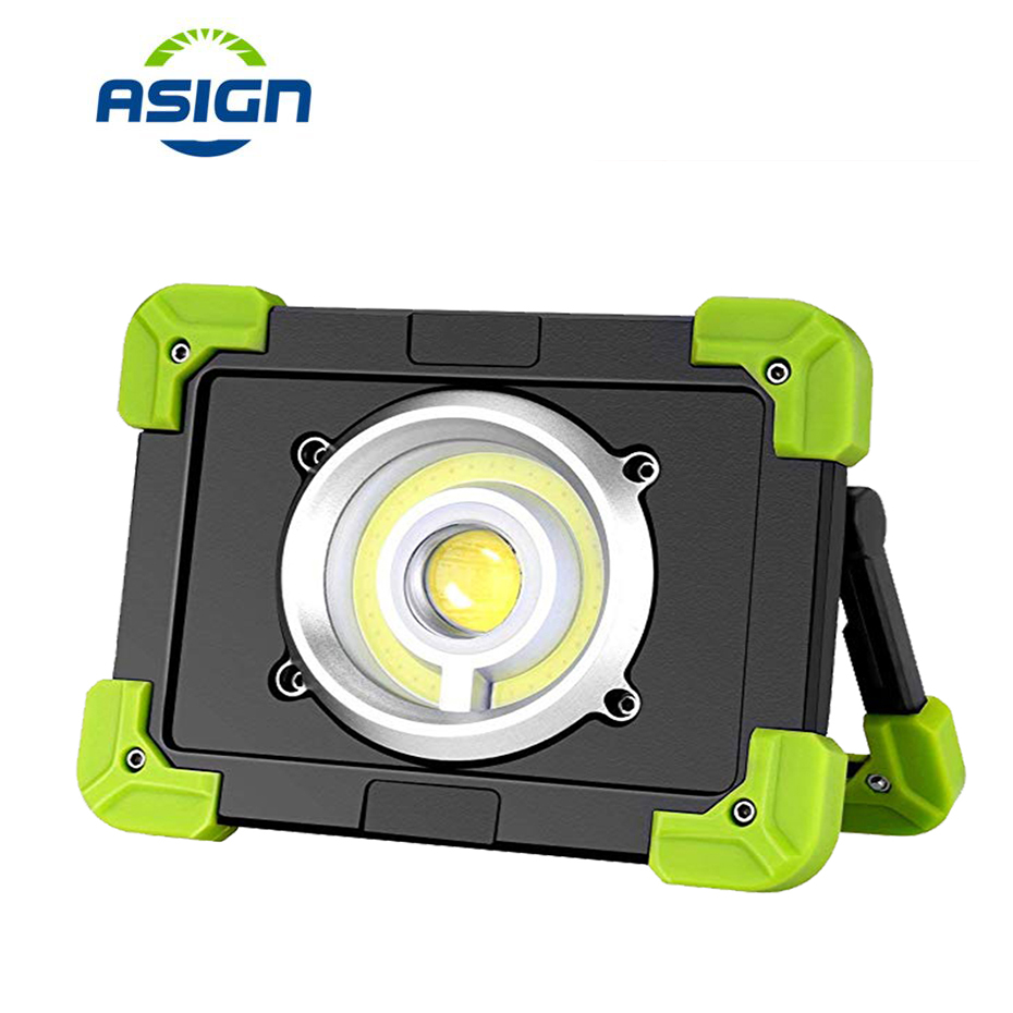 Portable COB Spotlight USB Rechargeable LED Work Light Super Bright Handheld Searchlight Waterproof For Camping Hunting Lighting
