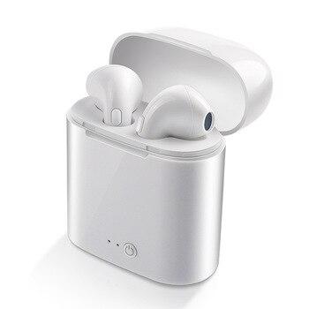 WPAIER I7S TWS Bluetooth fones de ouvido Fones De Ouvido Fones De Ouvido Com caso De Carregamento Sem Fio Portátil mini bluetooth Universal tipo I7STWS