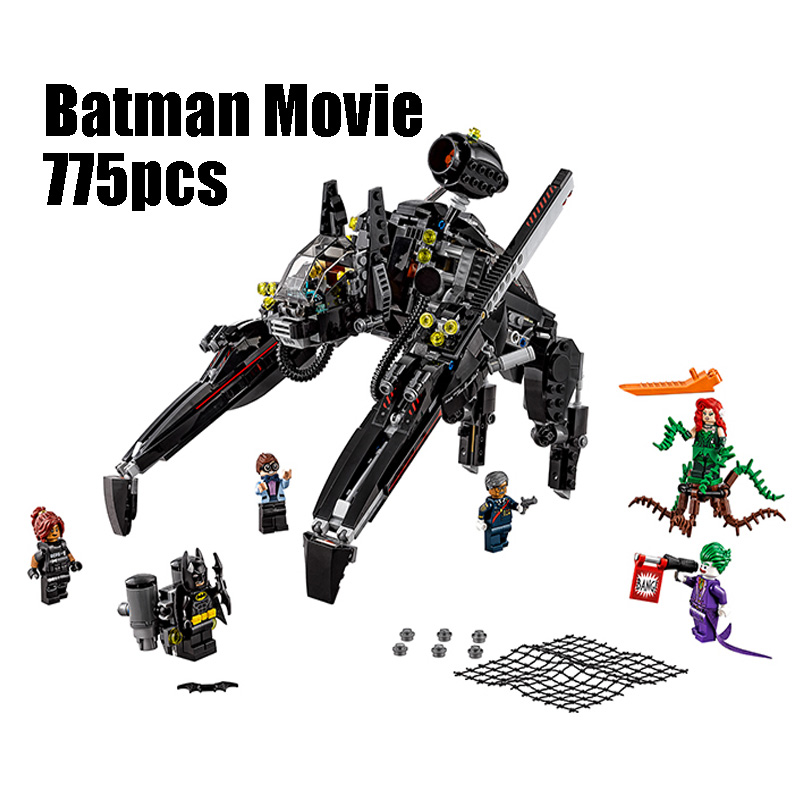 WAZ Compatible Legoe batman 70908 Lepin 07056 775pcs super heroes movie blocks The Scuttler toys for children building blocks decool 7118 batman chariot super heroes of justice building block 518pcs diy educational toys for children compatible legoe