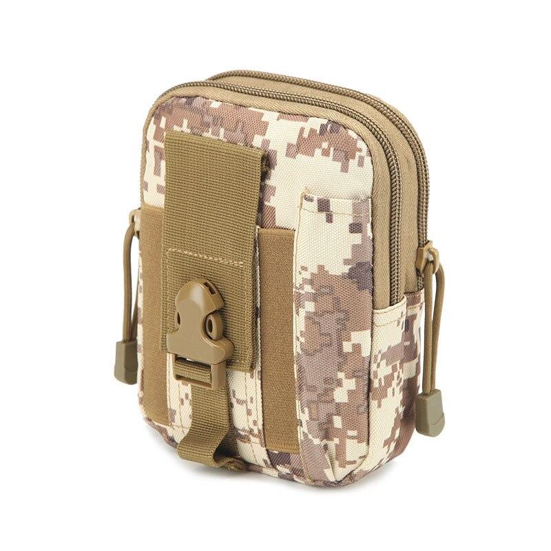Fashion Waist bag Small square phone bag waist retro Camouflage Oxford cloth Casual waist bag high quality travel bags wallet