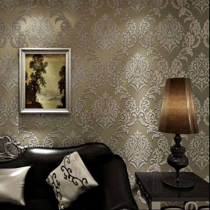 ФОТО 3D three-dimensional Beibehang Beibehang bedroom living room TV wall background Beibehang European-style luxurious atmosphere