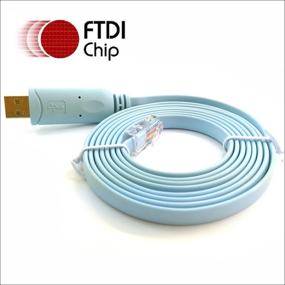 Ftdi usb rs232 rj45 série console câble pour Cisco H3C HP Arba 9306 huawei routeur retournement console kabels
