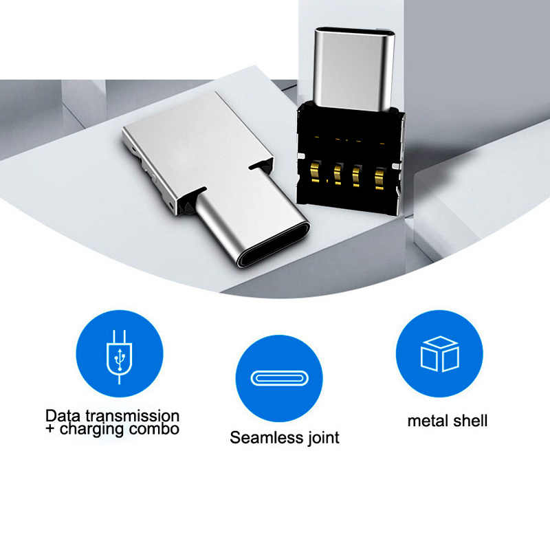 -Tipo C USB-C para USB 2.0 Adaptador OTG para Xiao mi mi A1 Para Samsung Galaxy S8 Plus Oneplus 5T Macbook Pro Tipo C Conversor OTG