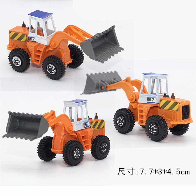 6pcs/set mini Diecasts Car alloy construction vehicle Engineering Car Dump Truck Artificial Model Toys For boy kids Forklift