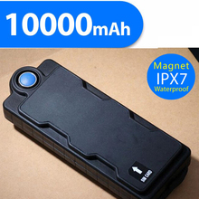 Super Magnetic 10000mAh Big Battery Power Bank Waterproof ipx7 Cars GPS Tracker system GPS GSM GPRS Car Vehicle Tracker Device