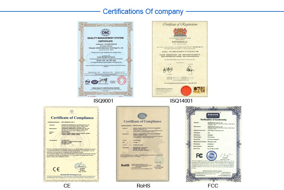 Certifications Of company-920PX-20160816A