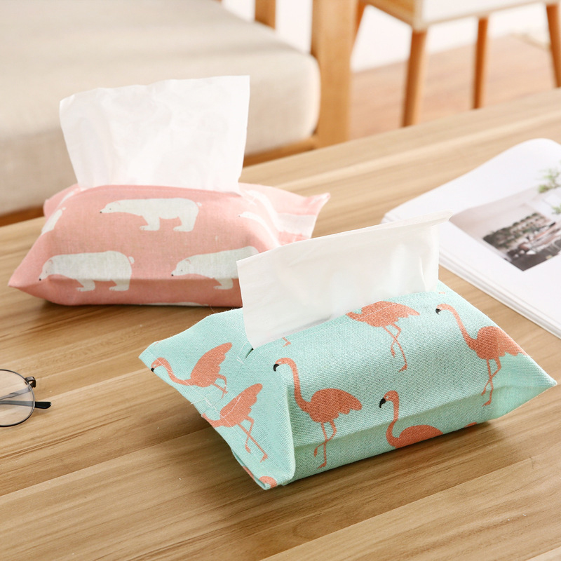 Vintage Style Linen Tissue Box Home Kitchen Living Room Paper Cover Bag Napkin Towel Box Linen Tissue Holder in Tissue Boxes from Home Garden
