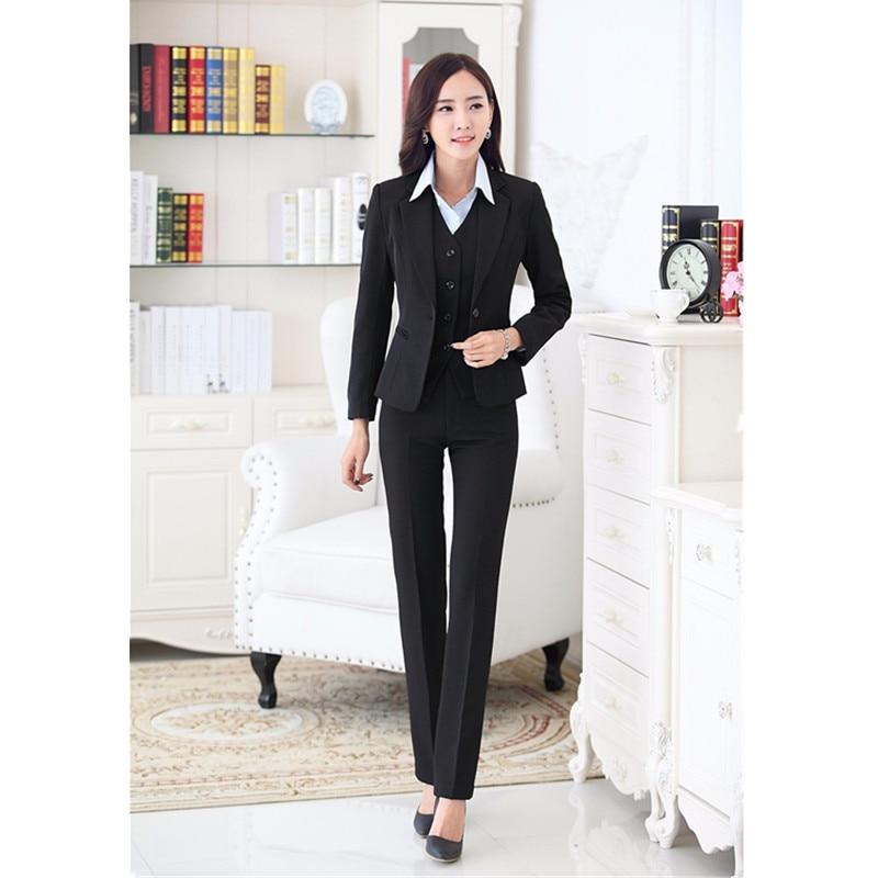 Bureau Formelle Gilet Dames Pièce Travail Complet 3 Offre Fait Pantalon Mode Set De Sur Blazer Mesure Spéciale Uniformes Avec Nouvelle Femmes qwUXPaXx