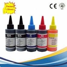 5 x 100ml Refill Dye Ink Kit For Hp Deskjet 3521 3522 4620 Photosmart 5510 5511 5512 5514 5515 5520 5522 5525 6510 6512 Printer