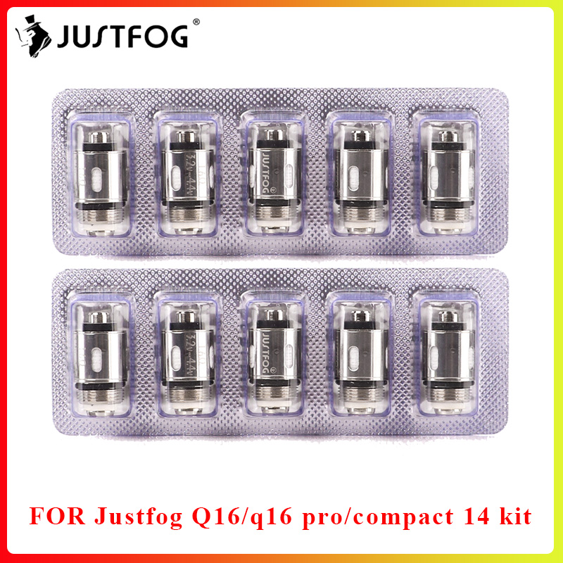 50PCS/lot Bigsale JUSTFOG Q16 P16A Coil 1.2ohm And 1.6ohm Japanese Organic Cotton Coil For Q16 Q14 S14 G14 C14 Starter Kit
