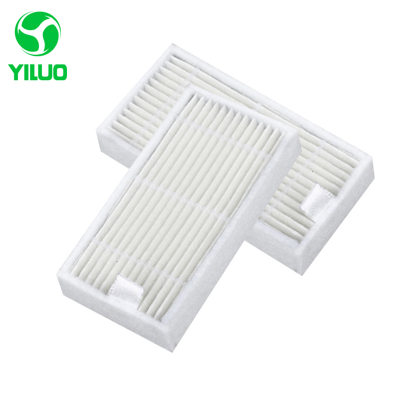 White HEPA Filter for X500 X580 KK8 ML009 CR120 CR121 CEN540 CEN250 CEN540-MI Robotic Vacuum Cleaner Accessories for House 2pcs robotic vacuum cleaner robotic parts pack hepa filter for xiaomi mi robot filters cleaner accessories