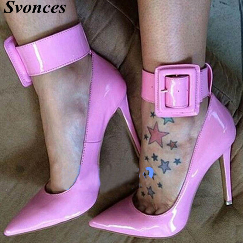 Taille Sangle Cheville Boucle 2018 Haute De Grande Talons Parti Rose Mujer Zapatos Mariage Femme Fashions Chaussures TqqgZa