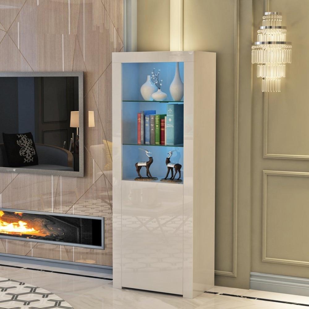 Современный белый матовый High Gloss витсветодио дный Рина LED книга огней орнамент шкаф светодио дный с для дома гостиная