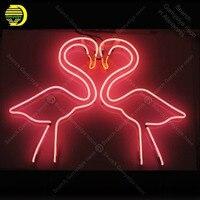 Неоновая вывеска для Фламинго неоновая световая вывеска аксессуары украшения Windower Store дисплей пивные стеклянные трубки неоновые огни розо