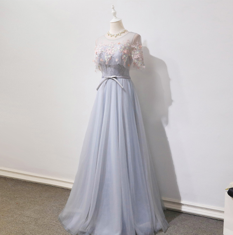 Real Photo Show A-line   Bridesmaid     Dresses   2018 Sexy Illusion Backless Lace Up Floor Length Party Gowns Robe De Soiree Prom   Dress