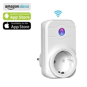 Image 1 - Ntonpower Wifi Plug Smart Eu Socket Met App Afstandsbediening Timer Wifi Socket Afstandsbediening Draadloze Controles Voor Alexa