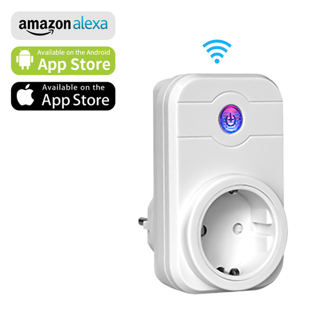 Ntonpower Wifi Plug Smart Eu Socket Met App Afstandsbediening Timer Wifi Socket Afstandsbediening Draadloze Controles Voor Alexa