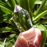 24Sided Natural Clear Double Terminated Vogel Inspired Crystal Wand