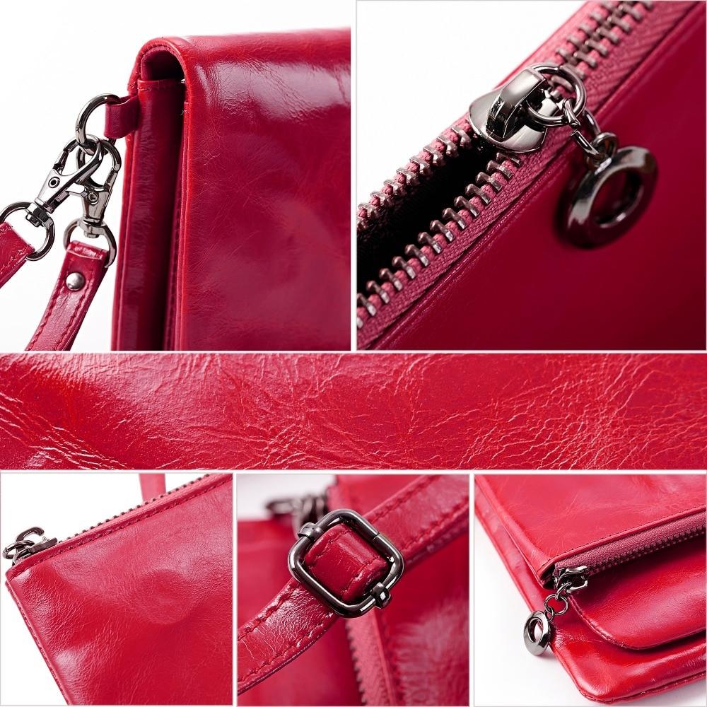 Lecxci bolsos de lujo para mujer cuero genuino Aceite de cera - Bolsos - foto 4