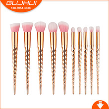 10 Unicorn Makeup Brushes, Makeup Tools, Spiral Thread, Beauty Tools, GUJHUI Rhymes