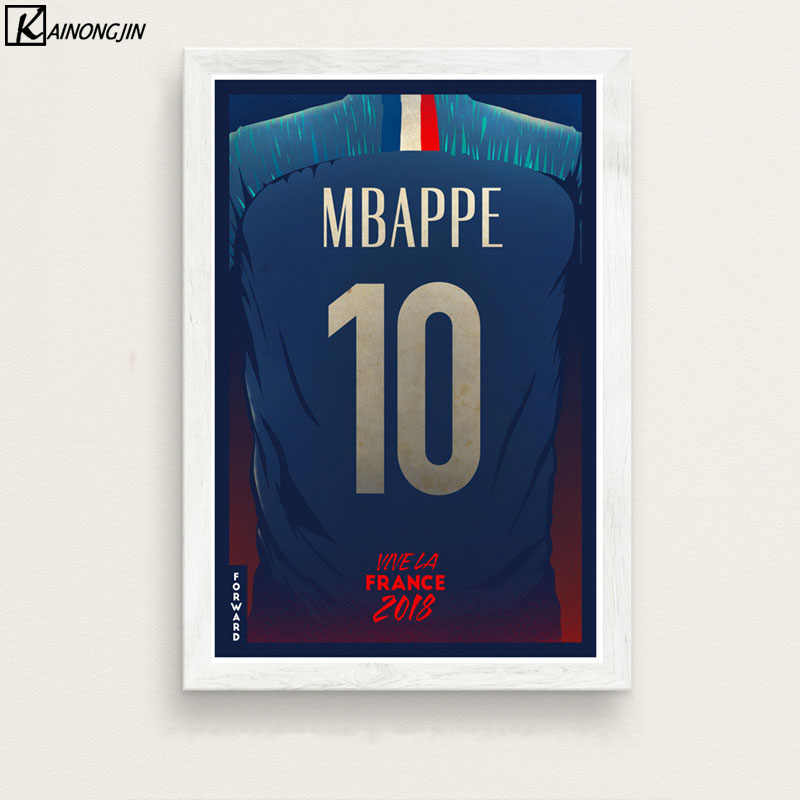 Poster Football Team French Player Number Canvas Painting Wall Art Picture for Living Room Home Decor Posters and Prints