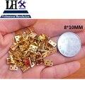 LHX PBYP97 100 unids/lote Latón Metal Diseño Especial Caja de Regalo de la Joyería de Plata de Oro Mini-Gabinete de la Bisagra 4 Agujeros