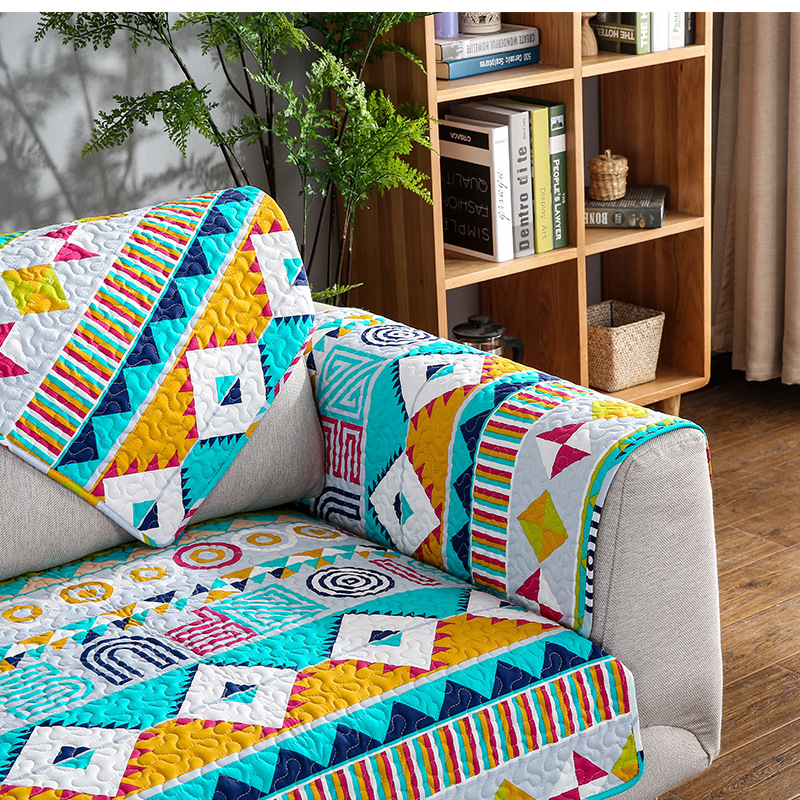 Wliarleo Bohemian Style Sofa Towel Geometric Armrest Backrest High Quality Slipcover Cushion Cover Funda Para Sofas In From Home