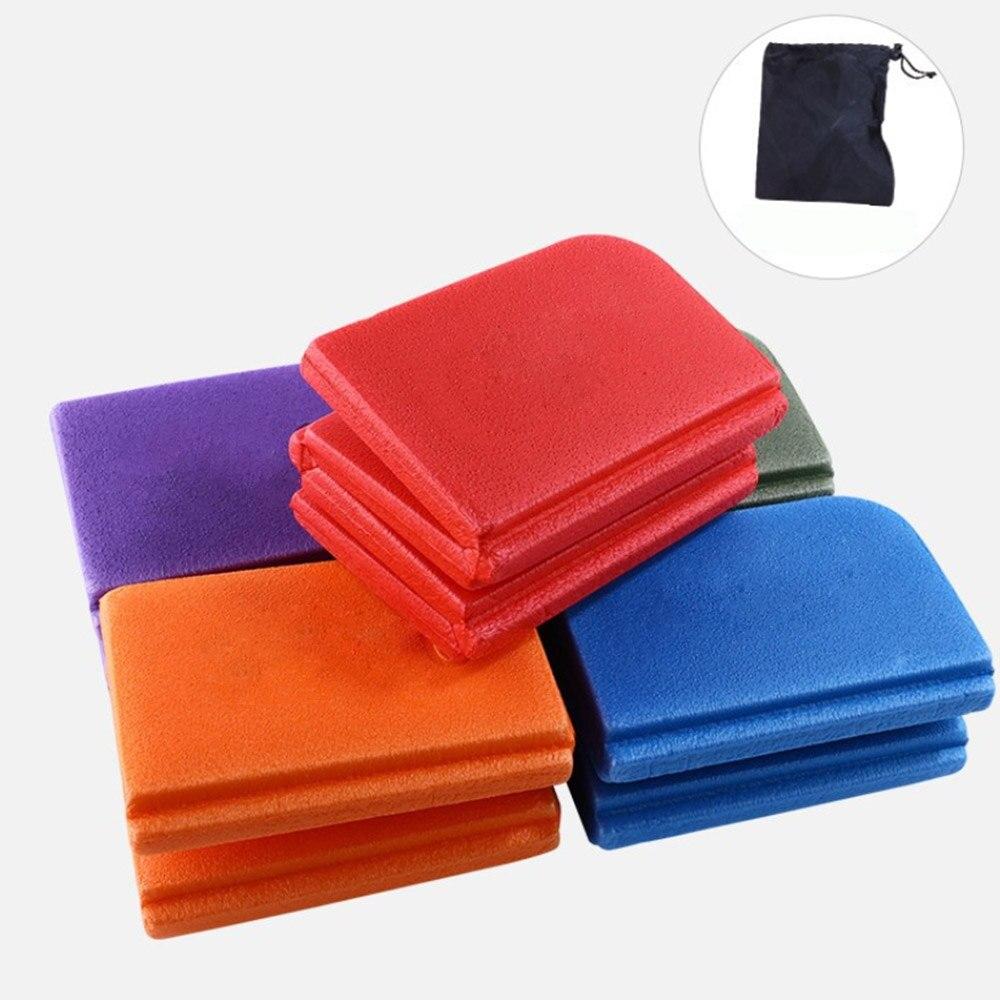 Cotton Solid Outdoor Folding Picnic Mat Foam Cushion Portability Seat Pad XPE Folding Cushion 2019