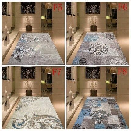 Chiffré épais lavable simple style moderne salon chambre motif tapis respectueux de l'environnement ins tapis nordique