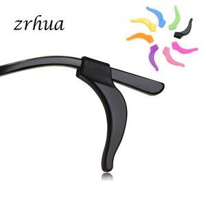Zrhua suporte de silicone antiderrapante, 5 pares de suporte de silicone para óculos, acessórios de gancho para óculos de esporte, ponta do templo atacado por atacado