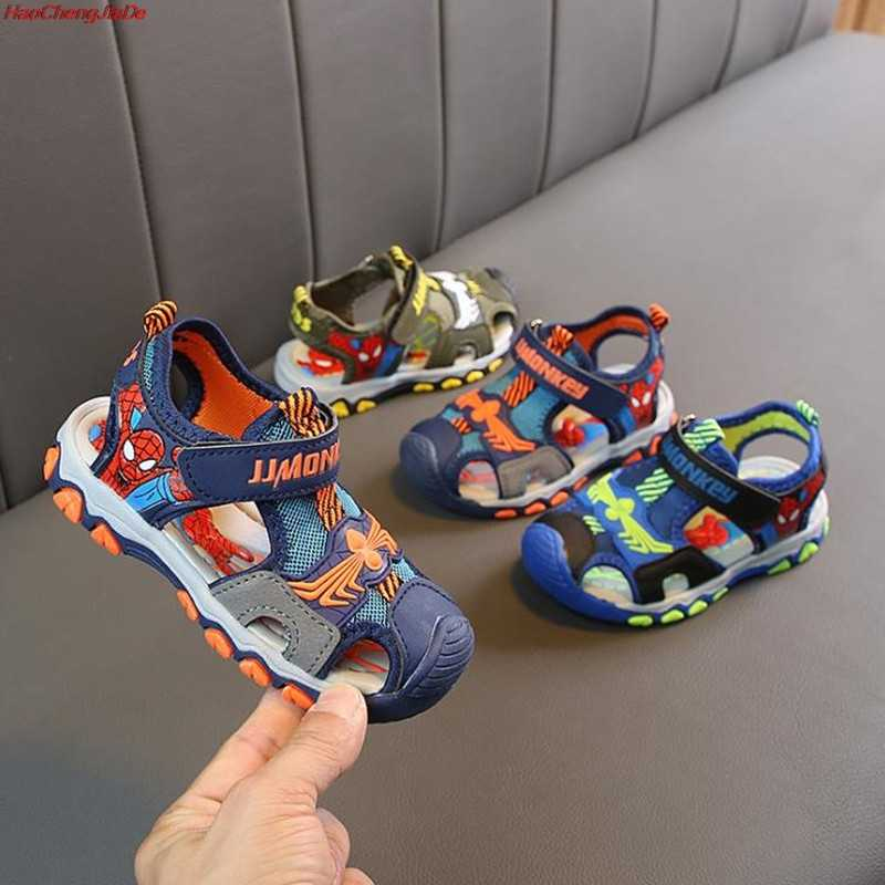 Kids Sandals for Boys Sandals Spiderman Fashion Summer Cute Children Sandals Boy Closed Toe Slippers Sandalias Shoes for School
