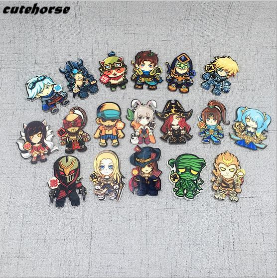 CUTEHORSE high quality cartoon series mobile game heroes alliance fridge magnets tape whiteboard acrylic magnetic stickers