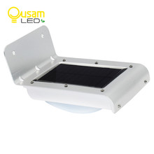 16 LEDs Outdoor Solar Motion Light Infrared Sensor Wall Lamp For Garden Security Lighting With Large Capacity Lithium Battery