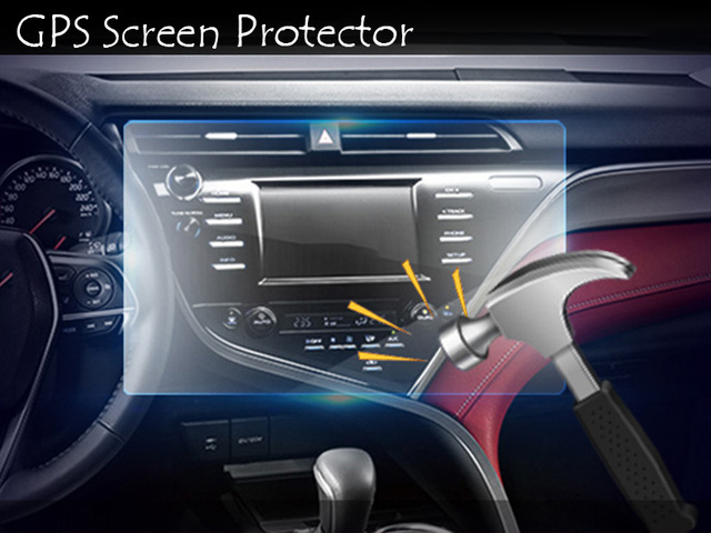 Car Navigation Tempered Gl Screen Protector Steel Portective Film For Toyota Camry 2017 2018