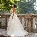 Vestido де novia Без Бретелек Дешевые свадебное платье с кружевом-вверх назад-Линии Свадьба drerss плюс размер на заказ свадебные платье платье