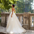 Vestido de novia Strapless Cheap bridal gown with lace-up back A-line Wedding drerss plus size custom made wedding dress gown