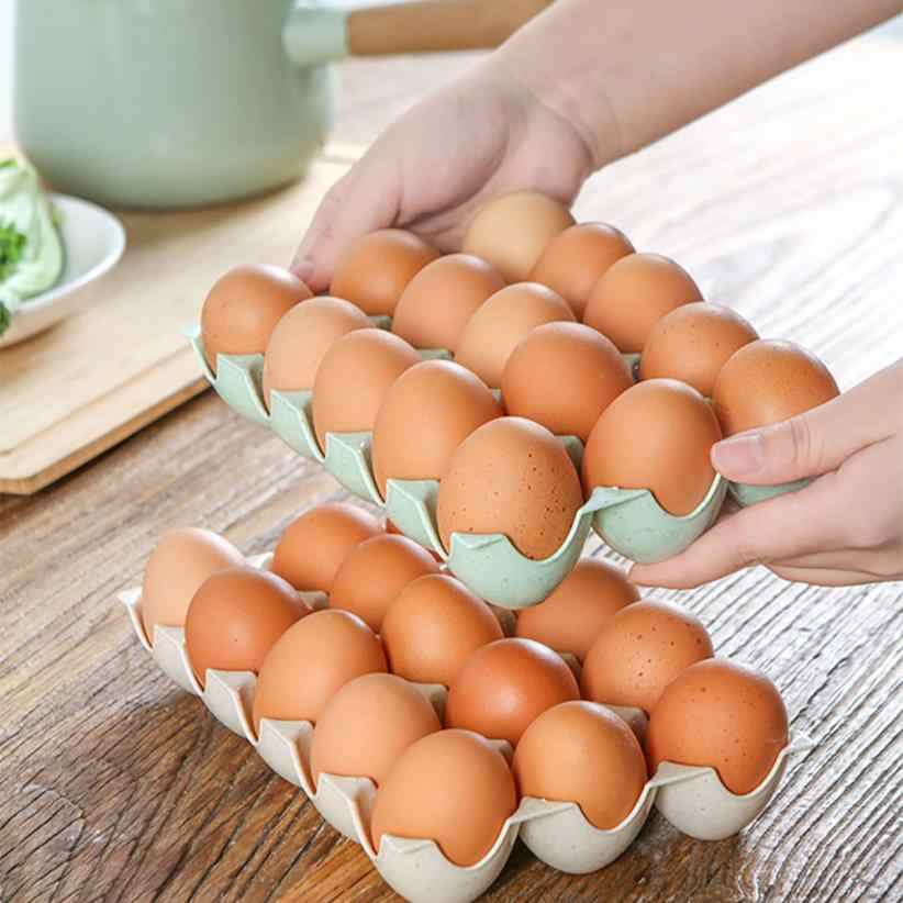 Egg Holder Box Refrigerator Storage Tray For 15Pcs Eggs Shatter-proof       x30406
