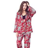 JRMISSLI women Comfortable Pyjamas Plus Size Long Sleeve Casual homewear Autumn Pajama Sets Silk Satin Sleepwear Suit