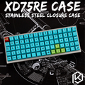 Изогнутый корпус из нержавеющей стали для xd75 re 60%  закрытый корпус для клавиатуры  верхний и нижний корпус
