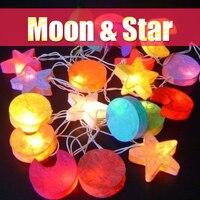 3 M 20 LED Étoile Lune Forme Partie guirlandes De Noël jeu de lumières pour Intérieur De Noël Parti Home Decor luz extérieur