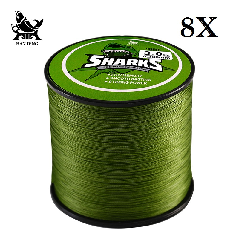 Handing 500M 8 Strands Multifilament super Strong braided Fishing Line 18LB-96LB PE line carp Fishing Line Fishing accessories