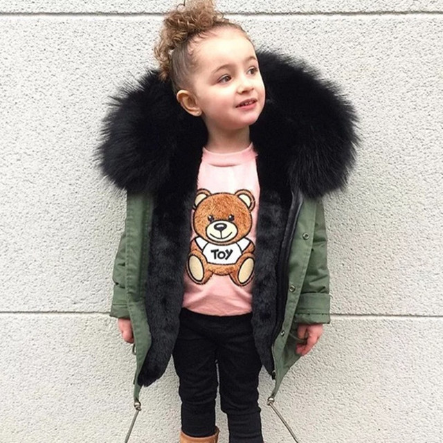 Best Offers Winter Baby Boys Down Jackets Girls Coats Thicken Warm Overcoats Big Faux Fox Fur Hooded Outerwear Toddler Kids Parkas Clothes