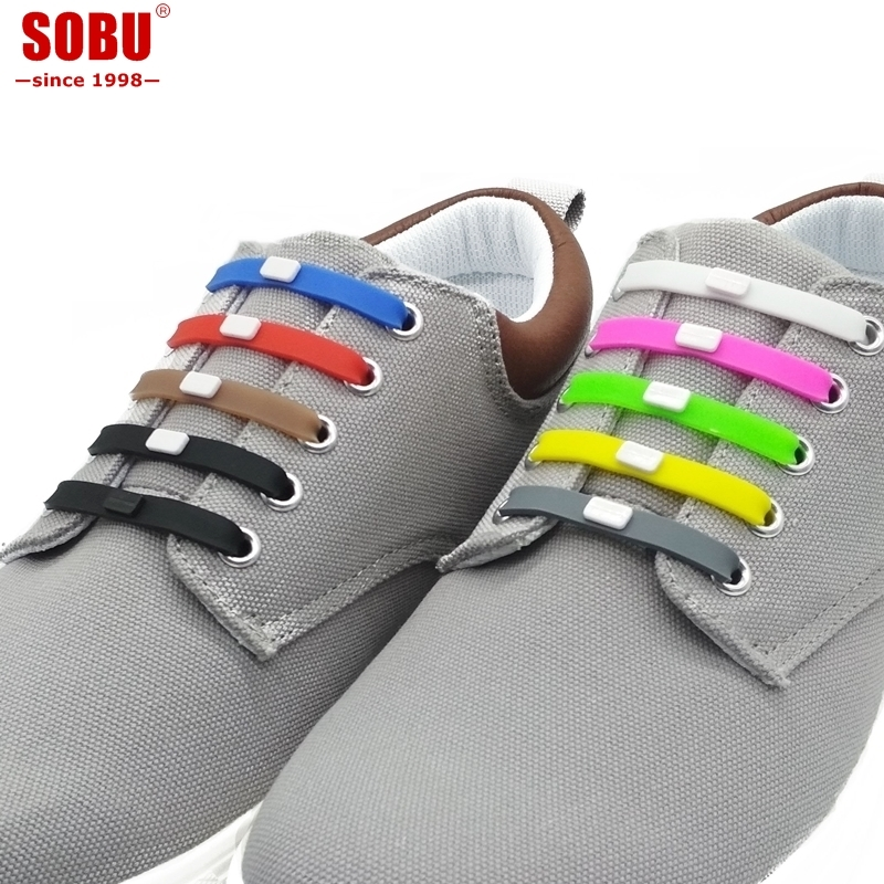 12pcs/set Shoelaces Novelty No Tie Shoelaces Unisex Elastic Silicone Shoe Laces For Men Women All Sneakers Fit Strap V001 jup 1 set 16 pcs adult novelty no necktie shoelaces elastic silicone leather laces men womens all sneakers fit belt cheap price