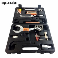 15Pcs/Set Mountain BIKEHAND Bike Patchs Bicycle Accessories Repair case diagnostic tools Kit Cycling chain box